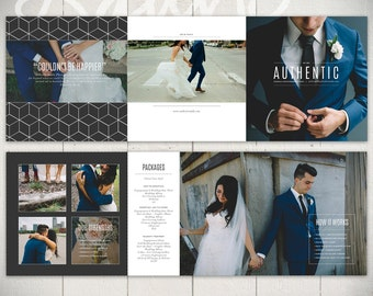 Photography Tri-fold Brochure Template: Authentic Studio - 5x5 Business Marketing Brochure