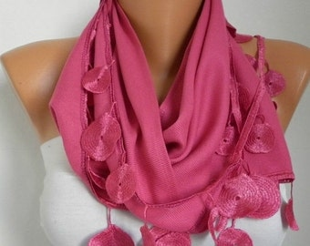 Pink Pashmina Scarf Christmas Gift Winter Accessories Cowl Shawl Bridal Accessories Gift Ideas For Her Women Fashion Accessories Scarves