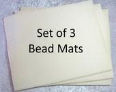 Beading Mat, Vellux Mat, 10x12 Bead Mat, 3 Pack Bead Mats, Beige Bead Mats