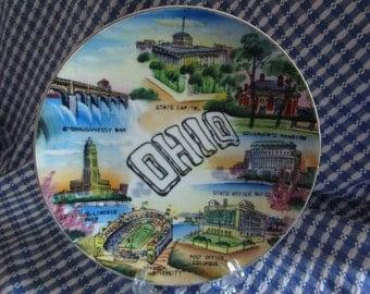 Souvenir OHIO Plate   Vintage Souvenir   Collectible   Buckeye State