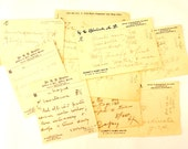 Vintage / Antique Handwritten Medical Prescriptions, Set of 9 (c.1901) N2 - Paper Ephemera, Collectibles, Medical Oddities