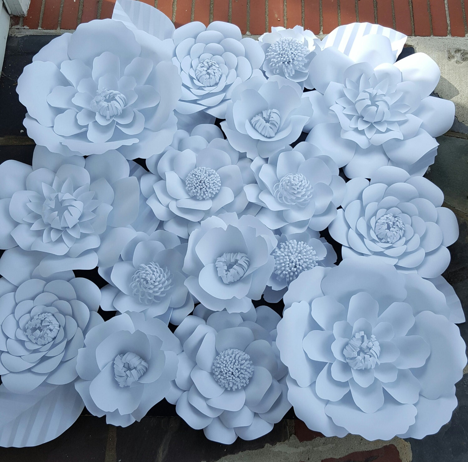 Large white paper flowers extra large paper flower 4ft x 4 ft zoom dhlflorist Choice Image