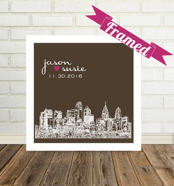 Wedding Gifts For Parents Nz : Wedding Gift for Parents Custom Wedding Frame Skyline City Art Print ...