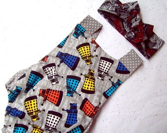 Doctor Who Baby Romper Daleks and Polka Dots