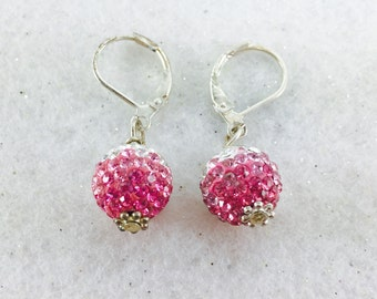 Shamballa Dangle Earrings, Swarovski Crystal Earrings, Crystal Ball Earrings, Disco Ball Earrings, Basketball Wives Earrings