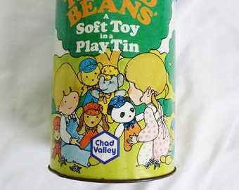 Vintage Chad Valley 'Tinned Beans'toy tin 1976
