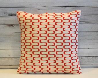 Burnt orange decorative pillow. 1 cover for 18x18 pillow insert. Retro pillow mod pillow mid century pillow cushion nursery pillow