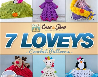 Combo Pack - Choose 7 Loveys / Security Blankets for 27,99 Dollars - PDF Crochet Pattern - Special Offer Pattern Pack
