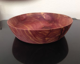 """20"""" x 6.5"""" x 1.75"""" Handcrafted Wooden Bowl"""