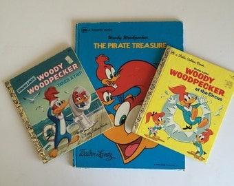 1970's Woody Woodpecker Books by Walter Lantz