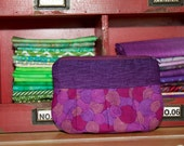 Purple Swirls Pleated Pouch - Free Domestic Shipping