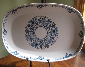 Progression Blue Moon Platter, Noritake, Blue Moon Platter
