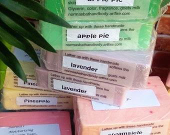 glycerin soaps, dozen soaps, bath, beauty, handmade soaps, bath and body, soap gifts, gifts, glycerin soaps