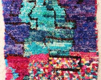 "200x130 cm ( 6' 6"" x 4' 3"") FREE SHIPPING worldwide TC28252 boucherouite rug ,  moroccan rugs , morocco carpets"