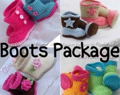 Crochet Patterns Baby Wellies