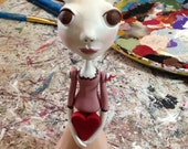 Valentines Bunny - Bunny Girl - Mini Bunny - Reserved for Leah