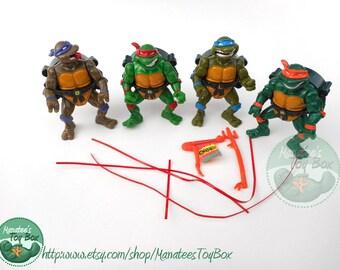 TMNT Action Figures: Complete Set of 4 Talkin Turtles Donatello Raphael Mike and Leonardo