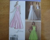 Simplicity Pattern 4258 Misses' Special Occasion Dress in Two Lengths    2006    Uncut