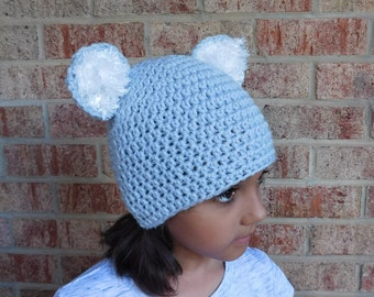 Little Koala Bear Grey Crochet Hat Baby Girl or Baby Boy Photography Prop Costume All Sizes  from Preemie to Adult