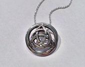 Triquetra Knot Signature Celtic Pendant
