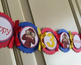 Curious George Word Banner