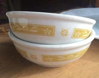 SET 1971 Sterling Vitrified China Berry Bowls