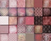 Red  Pink Vintage  Digital Papers  12 x 12 sheets damask  Decoupage,  texture papers 30 scrapbooking papers  to Download (113
