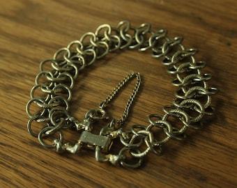 Vintage triple chain bracelet