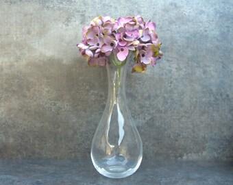 Clear Glass Wedgwood Bud Vase, Minimalist Neutral, Simple Sleek