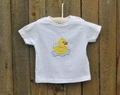 Rubber Ducky Shirt with Monogram, many colors...6m,12m,18m,2t,3t,4t,5/6