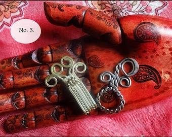 Vintage Jewelry Supplies, Vintage Garment Closures, Antique Hook & Eye, Original Priest Vestment Closer / Cloak Clip, c 1850. No: 3 Listing