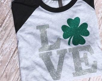 St Patricks Day shirt Womens St Patricks Day shirt Love St Patricks Day Shamrock St Patricks Day Shirt Women's St Patricks Shirt Irish Shirt