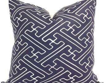 Quadrille Blue Saya Gata Pillow Cover Square, Eurosham or Lumbar pillow Accent Pillow, Throw Pillow, Pillow sham, Toss Pillow
