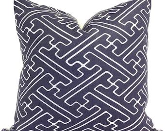 Quadrille Blue Saya Pillow Cover Square, Eurosham or Lumbar pillow Accent Pillow, Throw Pillow, Toss Pillow