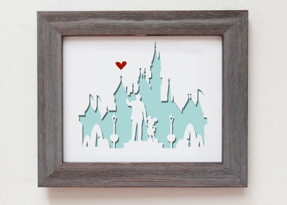 """Disney Land  8x10""""  Personalized Gift or Wedding Gift"""