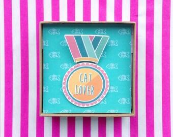 Cat Lover - Award Brooch