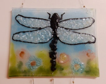 Dragonfly Recycled Glass Wind Chime