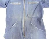 Indigo Vintage French Boiler suit mechanics industrial workwear overalls Chore suit trousers tank suit dungarees