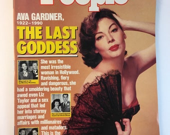Ava Gardner / February 12 1990 / People Weekly Magazine