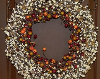 Door Wreath - All Season Wreath - Fall Door Decor