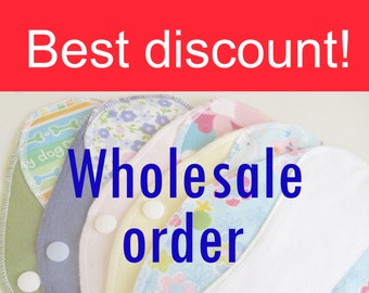 Bulk order - Save with this listing - Pantyliners 9'' - Surprise set of 15 - Washable - Reusable