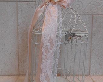 White Birdcage Wedding Card Holder / Bird Cage Wedding Card Holder / Wedding Card Box / Small White Birdcage / Wedding Decorations