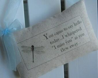 Dragonfly, Door Pillows, Door Decor, Cancer Survivor, Sympathy, Get Well Soon, Encouragement, Bereavement, Door Hanger, Woodland, Memorial
