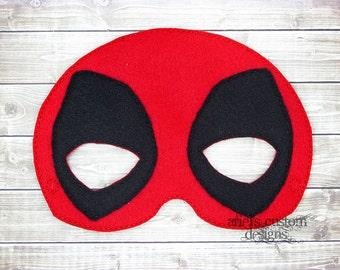 Deadpool (MASK ONLY) - Felt Dress Up Masks - Birthday Party Favor Halloween