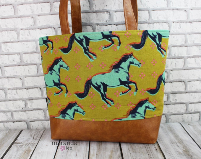 Lulu Large Tote LIMITEd EDITIOn - Mustangs READY to SHIP
