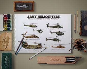 Army Aviation Rotary Aircraft - Horizontal option