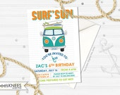 Surfs Up Birthday Invitation printable Water Themed customized - You Print