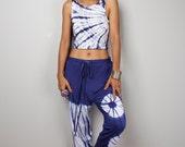 Blue Boho Pants / Tie Dye pants / Comfy pants classy street style : Urban Chic Collection no.15
