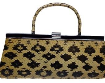 Vintage 40s SNAKESKIN Clutch/Handbag