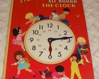 Tick-tock All Round The Clock Vintage Brimax Board Book